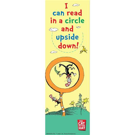 Dr. Seuss Read with My Eyes Shut Bookmarks for Kids