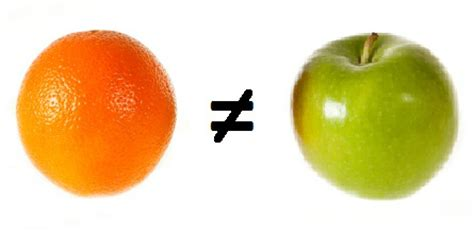 Comparing Apples To Oranges by Svr S Comparing Apples To Oranges Is Bananas