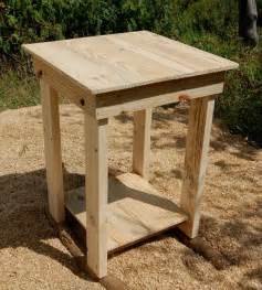 easy nightstand plans diy easy to build pallet nightstand and side table
