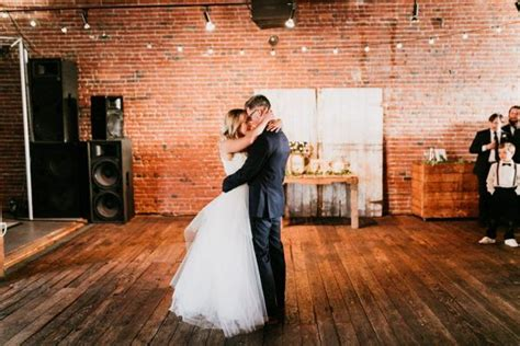 ed sheeran perfect wedding dance understated navy and slate blue wedding at the loft in