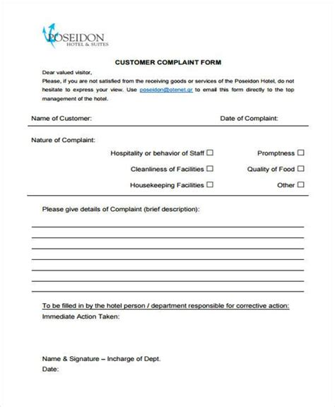 customer complaint form exles best resumes
