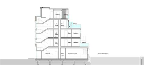 section apartments apartment section drawing
