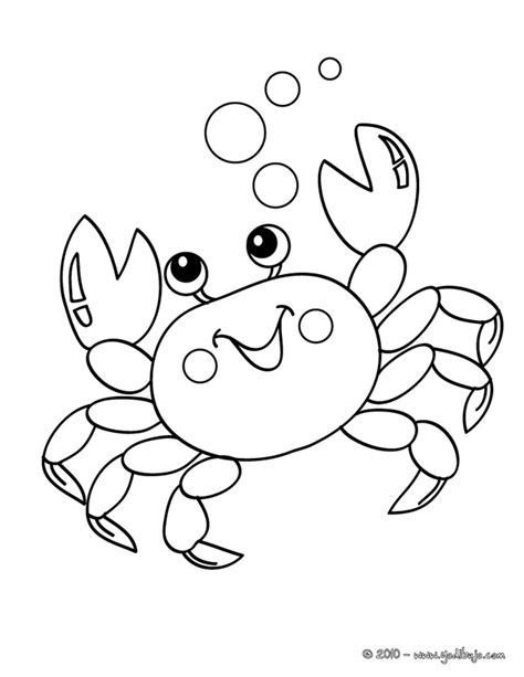 crab coloring pages free outline of a crab coloring pages