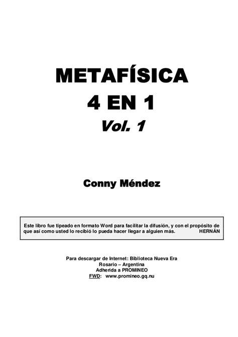 para leer la metafsica 8481558338 metafisica 4 en 1 conny mendez comprar el libro newhairstylesformen2014 com