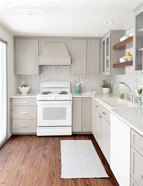 gray white kitchen remodel centsational