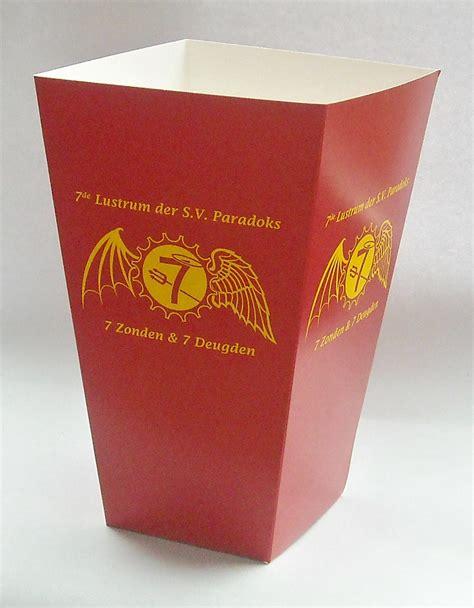 Printed Popcorn Box printed popcorn box large printed popcorn boxes in 3 sizes
