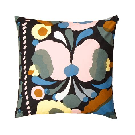 Marimekko Pillows Sale by Marimekko Tuppura Black Throw Pillow Marimekko Sale