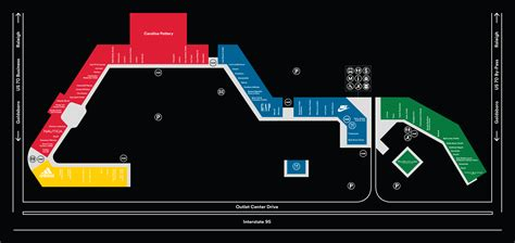 premium outlets map carolina premium outlets outlet mall in carolina