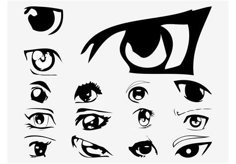 vector anime eyes   vector art stock