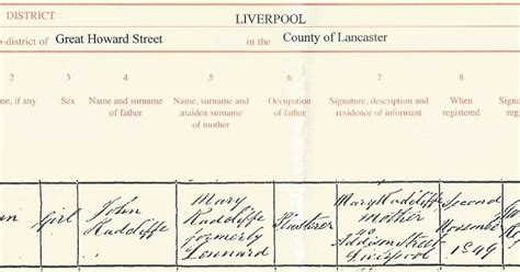 Liverpool Birth Records Free Black Genealogy Birth Of Radcliffe