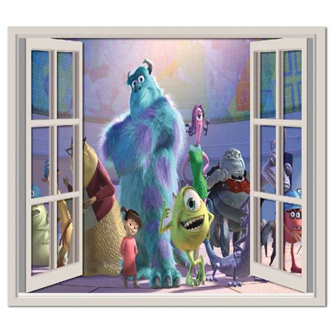 monsters inc wall stickers monsters inc wall sticker window wall decal