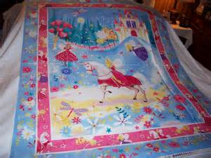 baby unicorn princess fairies baby quilt fabric panel new