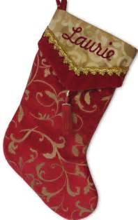 Cuff designer velvet stockings personalized christmas stockings