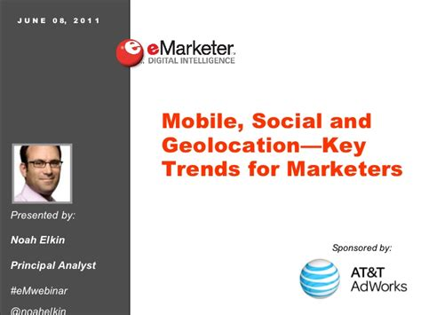mobile si鑒e social emarketer webinar mobile social geolocation key trends