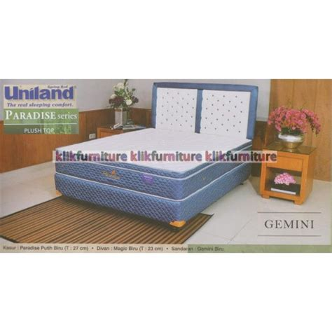 Kasur Bed Uniland Paradise springbed uniland paradise plushtop gemini harga distributor