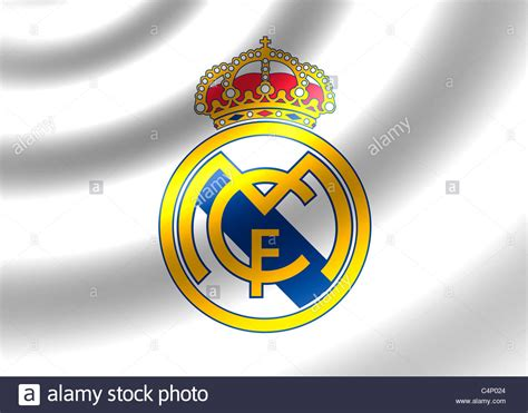 real madrid cf logo symbol flag stock photo royalty free