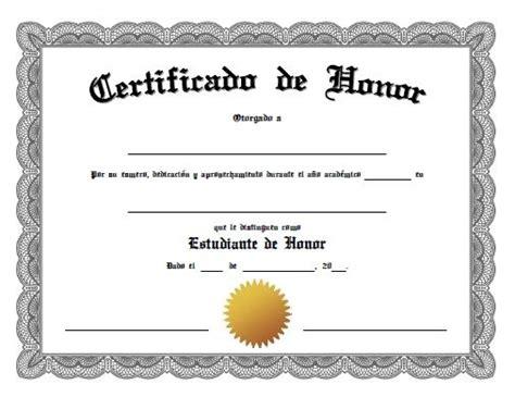 mensaje de cuadro de honor certificado certificado de honor para imprimir gratis pinterest pdf