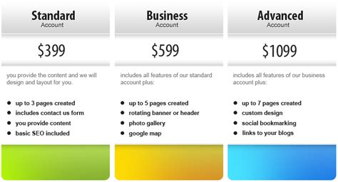 website price what it costs to plan design and build a custom web design package
