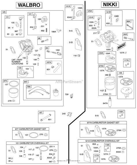 walbro diaphragm carburetor diagram wiring diagrams