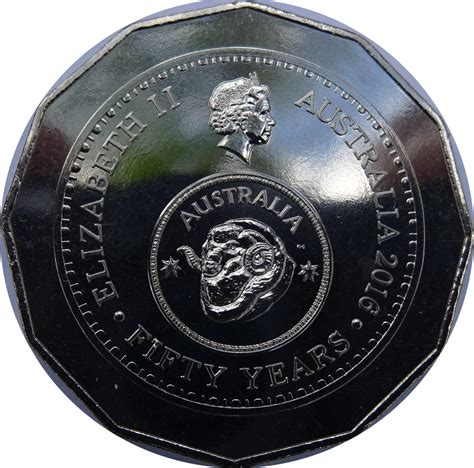 50 cent coin value 50 cents elizabeth ii 50th anniversary of decimal
