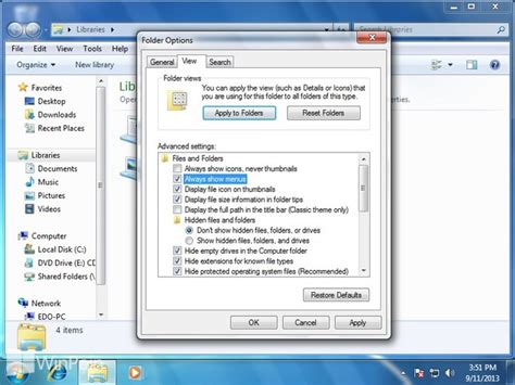 windows 7 layout menu bar cara mengatur windows explorer menu bar windows 7 winpoin