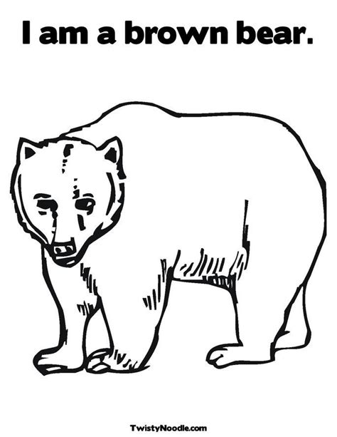 coloring pages of brown bear brown bear brown bear coloring pages coloring home