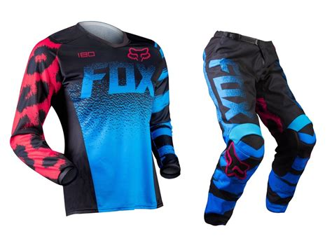 wee motocross gear fox 2015 mx 180 blue pink motocross dirt bike
