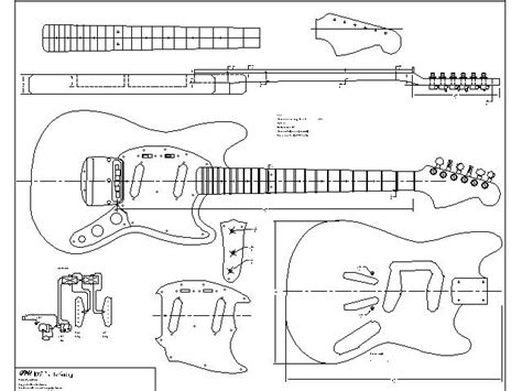 stratocaster neck template wood working idea free guitar templates