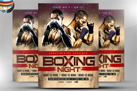 boxing poster template free boxing flyer template flyer templates on creative