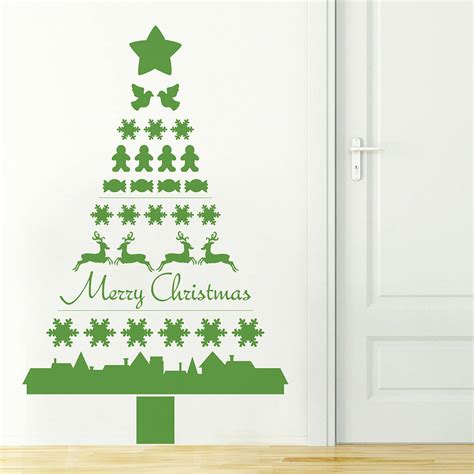 nordic christmas tree wall sticker by nutmeg