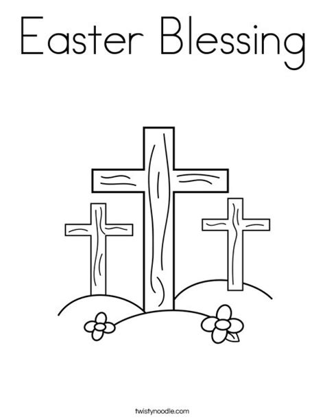 easter cross template printable easter blessing coloring page twisty noodle