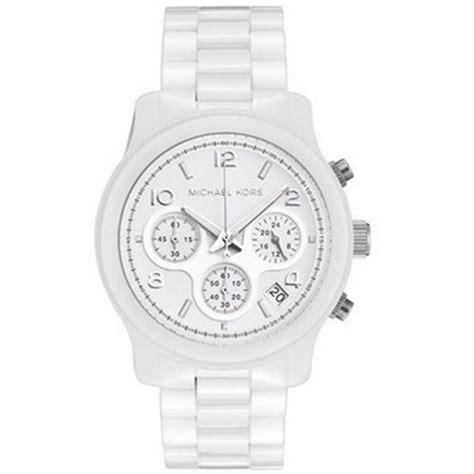 michael kors chronograph white ceramic mk5161
