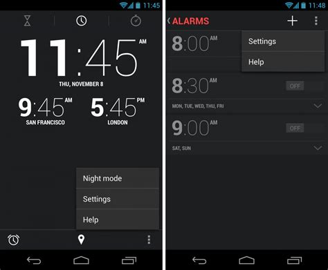 time for android inside android 4 2 the new clock app android central