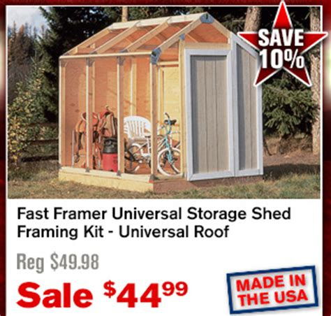 Fast Framer Universal Storage Shed Framing Kit by Northerntool Save With The Labor Day Sale Milled