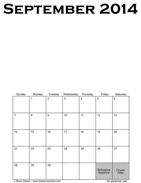 september 2014 calendar template printable september 2014 calendars favorites