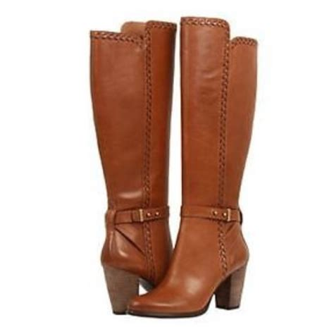 68 ugg shoes ugg brown claudine leather knee high