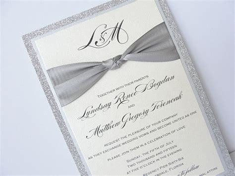 Silver Wedding Invitations by Lace Wedding Invitation