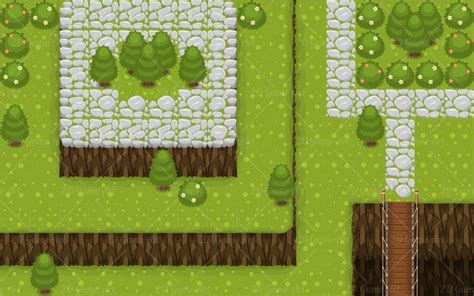 Build Your Own House Game the village top down game tileset game art 2d