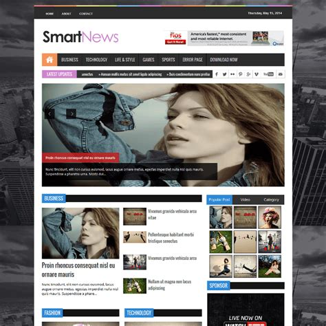 sora templates for blogger smart news sora templates responsive magazine style