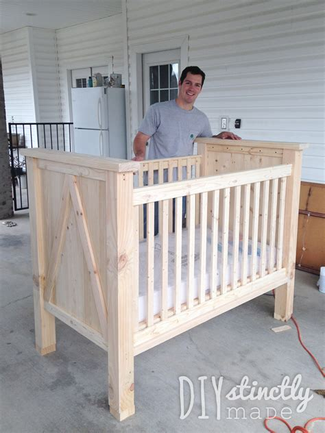 Diy Crib Diystinctly Made What To Put In Baby Crib