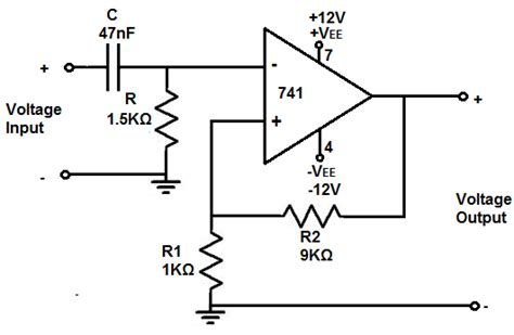 high pass filter using op how to build an active high pass filter circuit with an op