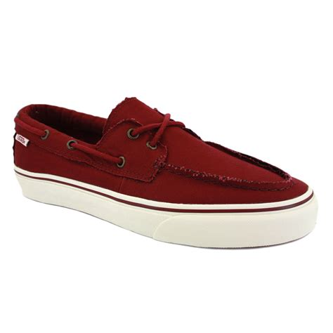 Vans Zapato vans zapato barco ok75uj mens laced canvas boat shoes