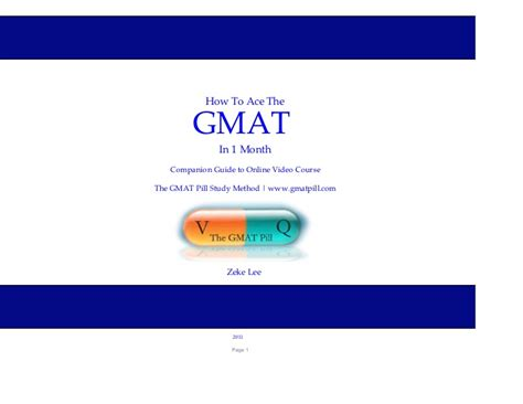 Mba Prep Work Login by Gmat Prep Ebook From Gmatpill
