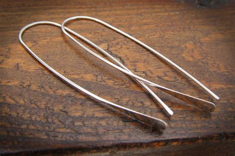 minimalist flatware minimalist argentium sterling silver earrings sterling