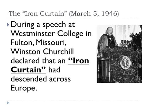 iron curtain 1946 ppt beginning of the cold war powerpoint presentation