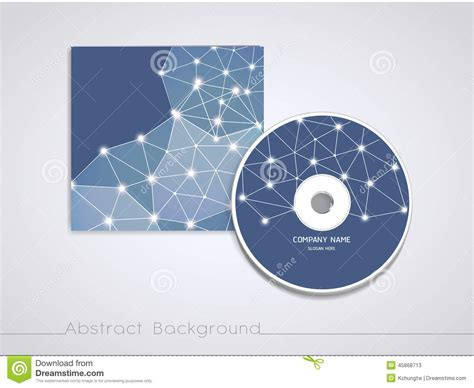 cd cover design template soft geometric background design for cd cover template