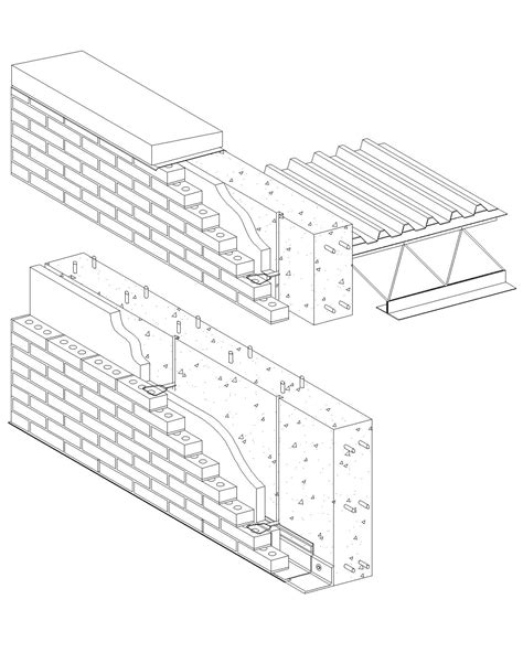cast in place concrete wall section cavity wall brick veneer reinforced cast in place concrete