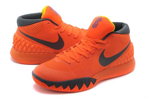 mens basketball shoes sale nike kyrie irving 1 orange grey mens basketball shoes for sale