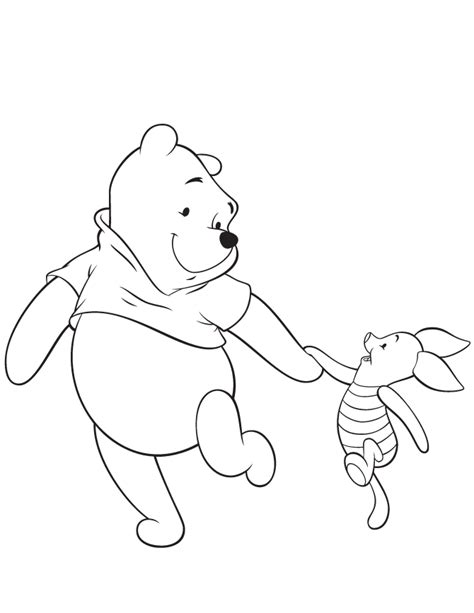 winnie the pooh and piglet friend coloring page h m