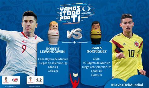 en vivo polonia vs colombia copa mundial rusia